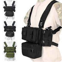 Tactical Chest Rig Modular Carrier w/ Mag Pouch for MK3 MK4 Micro Fight Hunting