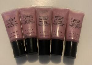 AVON Perfectly Portable Lip Gloss PINK New Shine Moisturizing~LOT OF 5~