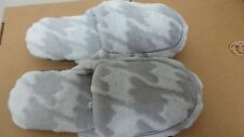 Soft & Comfortable Women household Slippers Grey Camo Size 7/8.5  V14-15