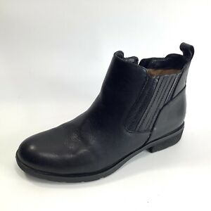 Sofft Bellis Bootie Womens Leather Ankle Boots in Black Size 9 Aqua Sofft