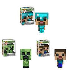 Video juego Minecraft Juguetes-Steve/Enredadera Figura de PVC con Caja Y Protector De Pop