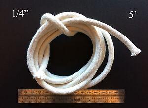 1/4 Round Cotton Wick 5' Kerosene Lantern Lamp Tiki Rock Candle Wick USA Seller