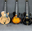Electric Guitar Hollow Body Byrd-land Style Gold Harware Grover Tuner