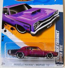 2012 Hot Wheels #84 MUSCLE MANIA MOPAR 4/10 ∞ '69 DODGE CORONET SUPER BEE ∞ PURP