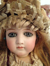 A/0 ANTIQUE DOLL FRENCH BISQUE EARLY  WRAP AROUND EYES BEBE JUMEAU LAYAWAY