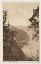 Devon postcard - Clovelly from Hobby Drive