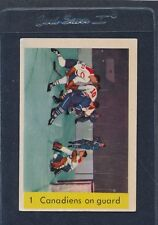 1959/60 Parkhurst #001 Canadiens On Guard EX 59PH1-122215-1