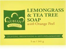 Nubian Heritage Bar Soap, Lemon Grass - Tea Tree 5 oz
