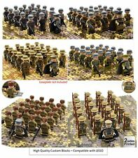 21pcs WWII Mini Figures Army CUSTOM LEGO British Russian Soldiers Troops UK WW2