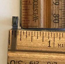Vintage Antique Metal Printer Printing Press Block Tiny Alphabet Letter W 7660
