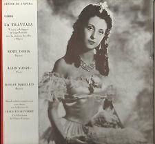 "RENEE DORIA, ALAIN VANZO, VERDI ""LA TRAVIATA"" 50'S LP EDITION NUMEROTEE ! N° 9 !"