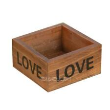 Rustic Natural Wooden Succulent Plant Flower Bed Pot Box  Garden Planter E0Xc