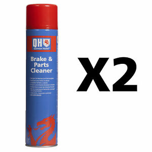 Genuine QH Brake Clutch & Parts Cleaner Dirt Grease & Dust Remover 600ml X 2
