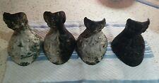 4 Victorian Matching Antique Cast Iron Eagle Feet Claw & ball Foot Bath Tub