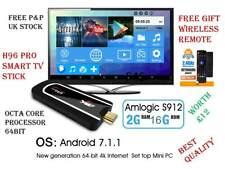 H96 Pro Mini PC 4K Android 7.1 Smart TV Dongle Stick 2GB/16GB Free Remote Gift