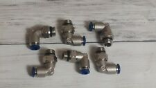 """6pc Push to Connect ALPHA FITTING 1/4"""" TUBE x 1/4"""" FIP Thread Swivel Elbow"""