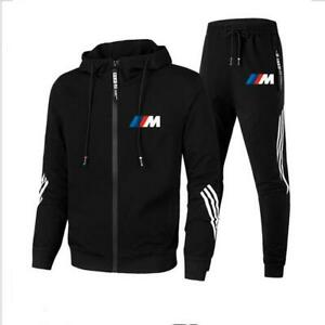 2021 New BMW M Men's Football Sets Zipper Hoodie+Pants Two Pieces Casual