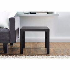brand new end table. durable black finish, with hollow core construction