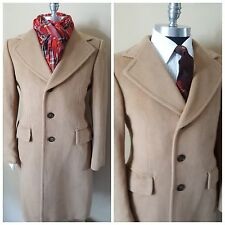 Van Gils Custom Quality Vintage Camel Trench Topcoat Coat Mens 37.5 38 48Eu 3Uk