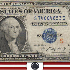 1935-A $1 Silver Certificate EXPERIMENTAL 'S'  Fr 1610  S74084853C