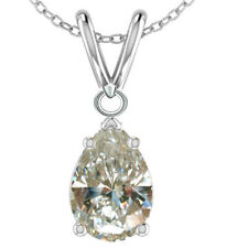 1.17ct vvs1>NEXT TO WHITE PEAR MISSANITE DIAMOND 925 Sterling SILVER PENDANT