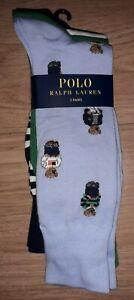 Polo Ralph Lauren 3 Pairs  Socks Bear Pony Stadium Hi Tech Sailing CP93