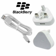 Genuine BlackBerry Priv Z30 Z10 Q20 Q10 9900 9860 9700 Wall Charger Cable White