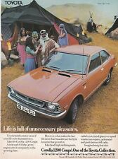 ORIGINAL 1973 TOYOTA COROLLA 1200 COUPE CAR MAGAZINE ADVERT