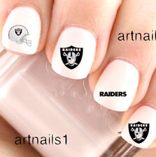 Oakland Raiders Football Sports Nail Team Fan Water Stickers Salon Polish Mani