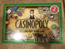 CASINOPOLY THE CASINO PARTY BOARD GAME Sealed New In Box Blackjack Craps Slots
