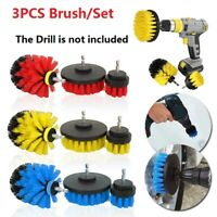 3PCS Tile Carpet Power Scrubber Drill Brush Attachment Tub Cleaning Supplies Set