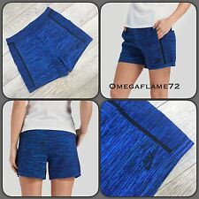 NikeLab Tech Knit Shorts Blue Black 747980-439  Women's XS Nike