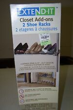 EXTEND-IT Closet Add-ons 2 Shoe Racks! Organize, in minutes, with no tools! NEW!