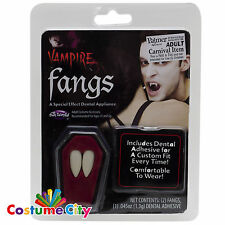 Adulti Vampiro Dracula Fang Coperchi Denti Denti Halloween Fancy Dress accessorio
