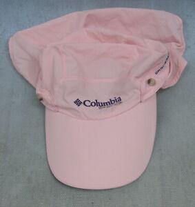 Columbia Sportswear Womens Pink Adjustable Baseball Omni-Shade Cap With Keeper