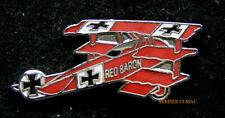 RED BARON FOKKER DR 1 HAT LAPEL PIN UP GERMAN LUFTWAFFE WW 1 TIE TAC WING PILOT