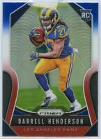 Darrell Henderson Rookie Card Red White Blue #330 Prizm Football 2019 LA Rams RB