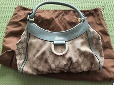 GUCCI Brown GG Monogram Canvas D-Ring Abbey Hobo Bag