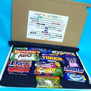 Large 15 Piece Happy Birthday Chocolate Poem Gift Box Sweets Lockdown Letterbox