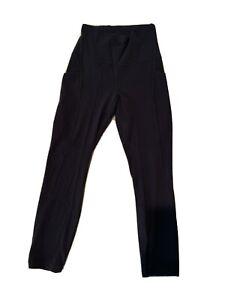 "lululemon Women size 4 Athletic Media pocket Yoga Leggings Inseam 23"" Solid(#n6"