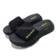 Skechers Max Cushioning Sandal Black Lime Men Slides Slippers 229008-BKLM