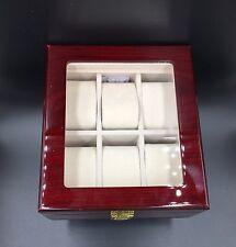Uhrenkoffer Uhrenbox 6er Schaukasten Uhrenkasten Uhrenvitrine Wood Watch Holz