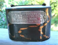 Antique Coburns Satchel Still Bank 1892 Provident Securities Banking Co Boston