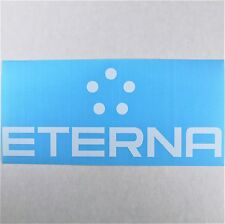 Eterna Vinyl Decal Die Cut 3x7in White Watch Logo Window Sticker