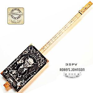 Robert Johnson 3SPV signature  Cigar Box Guitar  delta blues  Robert Matteacci