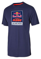NEW KTM REDBULL FACTORY RACING LOGO TEE T-SHIRT SIZE MEDIUM NAVY URB1562203