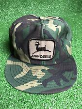 Vintage Camo John Deere Trucker Hat Snapback Mesh Louisville MFG Co. USA