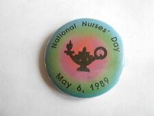 Vintage May 6, 1989 National Nurses Day Aladdin's Magic Lamp Nursing Pinback