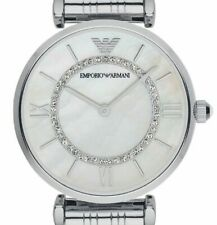 ARMANI DESIGNER WATCH AR1908 LADIES MOTHER OF PEARL DIAL  T-BAR, FREE POST