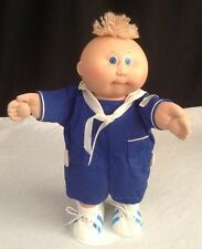 Vtg 1982 Cabbage Patch Kids Baby Preemie Boy Doll 100% NAVY Sailor Orig Outfit